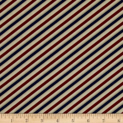 Barber Shop Barper Stripes Red/Blue Fabric