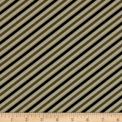 Barber Shop Barper Stripes Taupe/Black Fabric