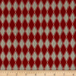 Barber Shop Black Diamond Red Fabric