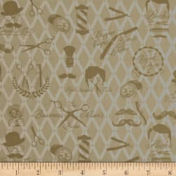 Barber Shop Moustache Men Natural Fabric