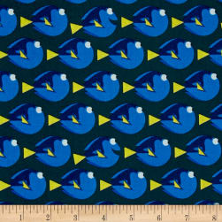 Disney Finding Dory Dot Dark Teal Fabric