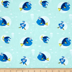 Disney Finding Dory Dory Faces Aqua Fabric
