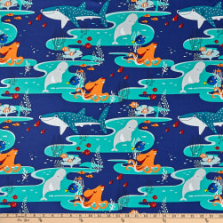 Disney Finding Dory Main Characters Navy Fabric