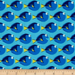 Disney Finding Dory Dory Dot Topaz Fabric