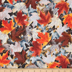 Frosted Fall Packed Maple Leaves Rust