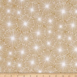 Near and Deer Snowflakes Tan Fabric