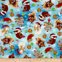 Oh Snow! Digital Print Allover Spearmint Fabric