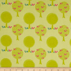 Riley Blake Acorn Valley Flannel Forest Citron Fabric