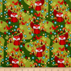 Riley Blake Acorn Valley Flannel Main Green Fabric