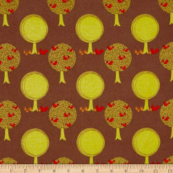 Riley Blake Acorn Valley Flannel Forest Brown Fabric