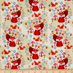 Riley Blake Acorn Valley Flannel Main Cream Fabric