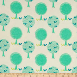 Riley Blake Acorn Valley Flannel Forest Cream Fabric