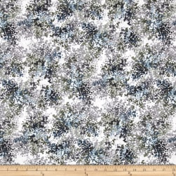 Floral Perspective Berries Ice Blue Fabric