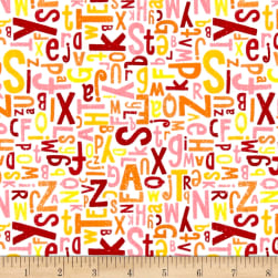 Riley Blake Crayola Alphabet Pink Fabric