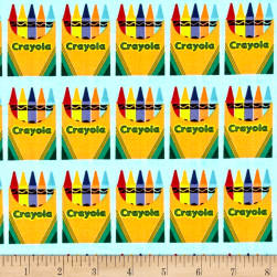 Riley Blake Crayola Box Blue Fabric