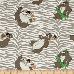 Disney Jungle Book Born to Boogie Grey Fabric