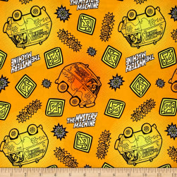 Scooby Doo Tonal Dots & Icons Orange Fabric