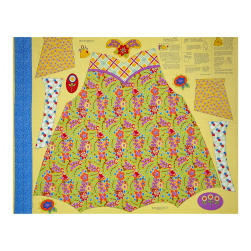 Penny Rose Chatterbox Aprons 36'' Panel Yellow Fabric