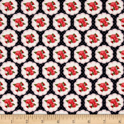 Riley Blake Posy Garden Scallop Navy Fabric