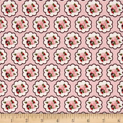 Riley Blake Posy Garden Scallop Pink Fabric