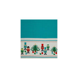 Riley Blake Nutcracker Christmas Border Print Panel Aqua