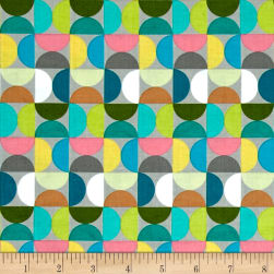Riley Blake Fantine Semicircle Gray Fabric