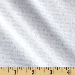 Riley Blake Sweet Orchard Text White/Aqua Fabric