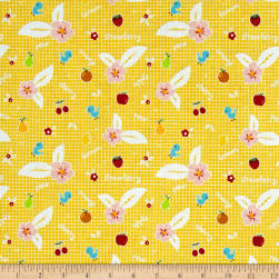 Riley Blake Sweet Orchard Fruit Yellow Fabric