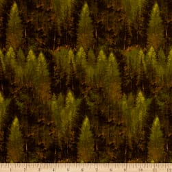 Penny Rose Majestic Outdoors Forest Green Fabric