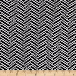 Jacquard Knit Zig Zag Black/White