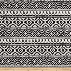 Jacquard Knit Abstract Diamonds Black/White