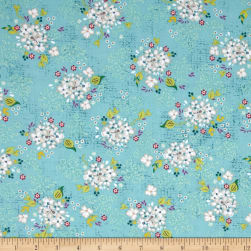 Gigi Blooms Fresh Blooms Lagoon Fabric