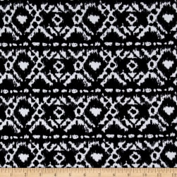 Boheme Jersey Knit Black/White Fabric