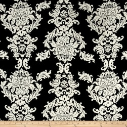 Baroque Jersey Knit Black/Cream Fabric