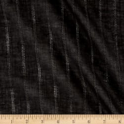 Cotton Gauze Stripe Black Fabric