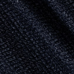 Quilted Denim Knit Navy Fabric