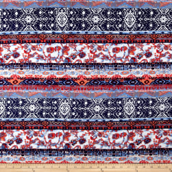 Bohemian Span Jersey Knit Navy/Red Fabric