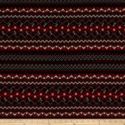 Satin Zig Zag Diamond Aztec Red/Black