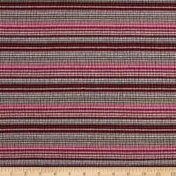 Lightweight Jersey Knit Stripe Brown/Red/Pink Fabric