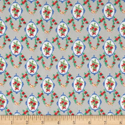 Chiffon Wallpaper Floral Grey