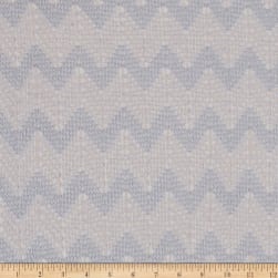 Novelty Crochet Knit Zig Zag Grey Fabric