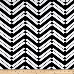 Ponte de Roma Mirrored Stripe Black/White Fabric