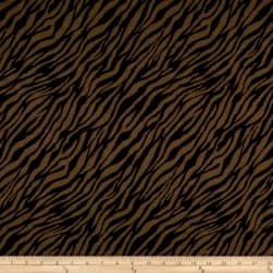 Zebra Jacquard Double Knit Brown/Black