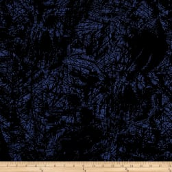 Crepe De Chine Static Print Blue/Black