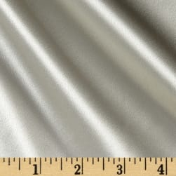 100% Silk Charmeuse Silver Fabric