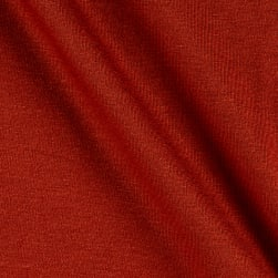 Jersey Knit Solid Cinnabar Fabric