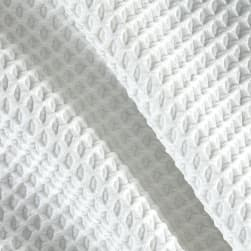 Polyester Spandex Latice Knit Pique Ivory