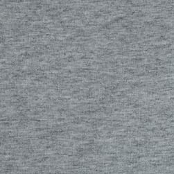 French Terry Knit Solid Light Heather Grey Fabric