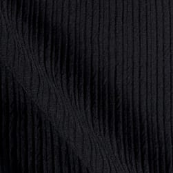 Ottoman Double Knit Solid Black