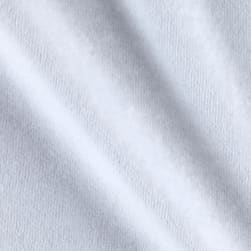 Solid Velour White Fabric